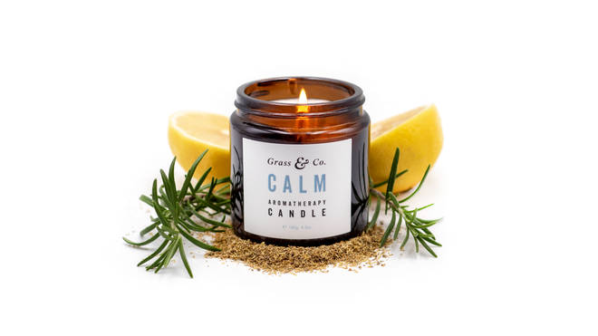 CALM blends lemon and rosemary for a soothing scent
