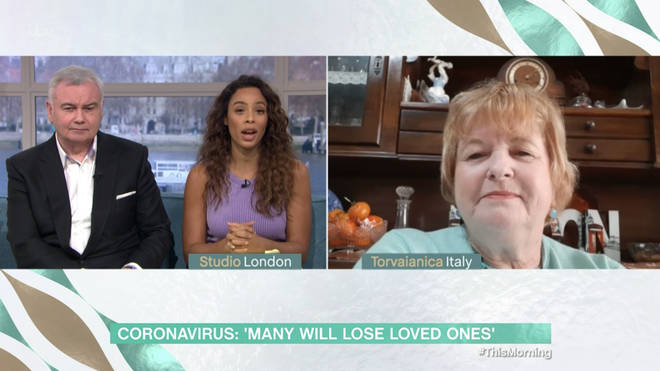 Elaine appeared on This Morning from Italy