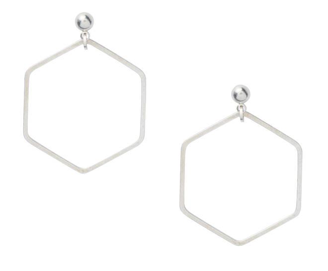Hex drop earrings