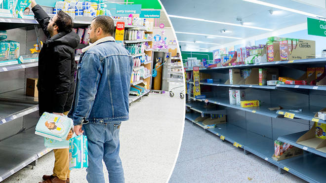 Shelves have been stripped bare at supermarkets in recent weeks