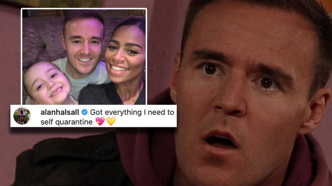 Alan Halsall has gone into self-isolation