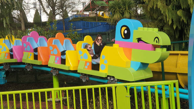 The brightly-coloured DUPLO rollercoaster was a hit