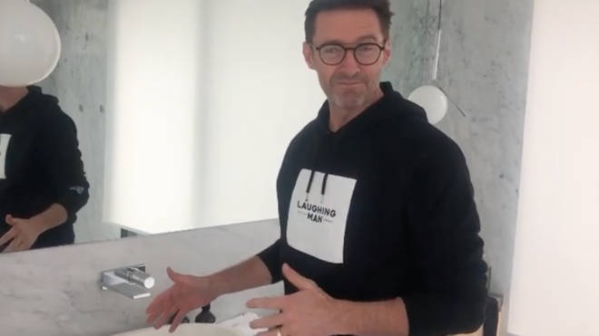 Hugh Jackman posted a handwashing video