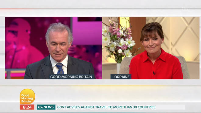 Dr Hilary was on hand to offer some words of advice to Lorraine