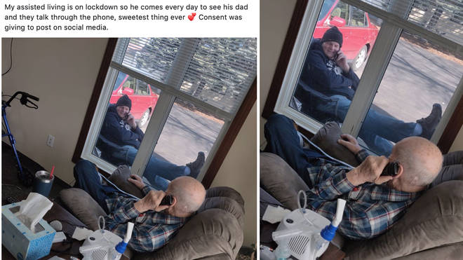 The heartwarming moment was shared online and has now gone viral