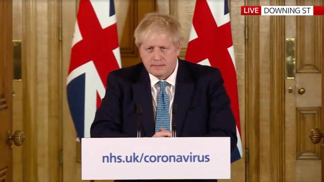 Boris Johnson spoke to the press