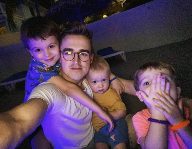 Tom and Giovanna are parents to Buzz, 6, Buddy, 4, and Max, 1