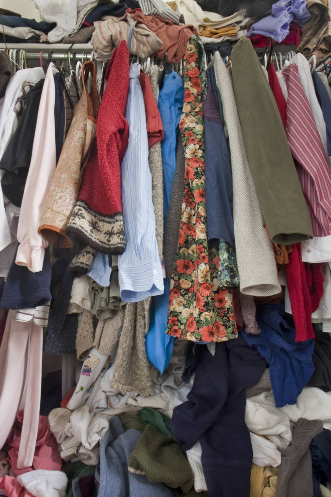 If you have a wardrobe like this, you might have a decluttering project on your hands...