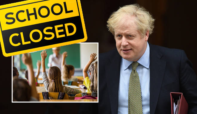Boris Johnson has announced schools across the UK will close