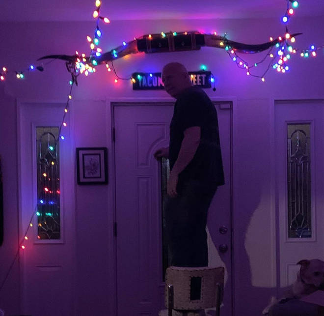A family in Dallas have decorated their home to help keep their spirits up during quarantine