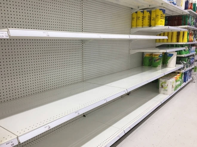 Supermarkets are being left empty as people have been panic buying