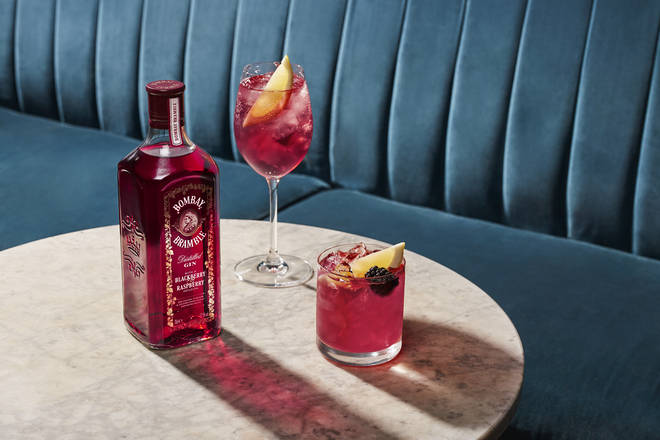 The pink hue of the gin is incredibly chic