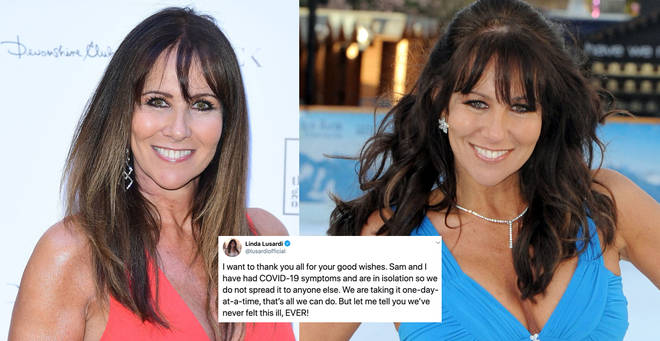 Linda Lusardi has spoken out about her symptoms on Twitter