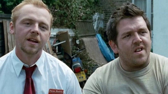 Simon Pegg and Nick Frost returned to their characters from Shaun Of The Dead