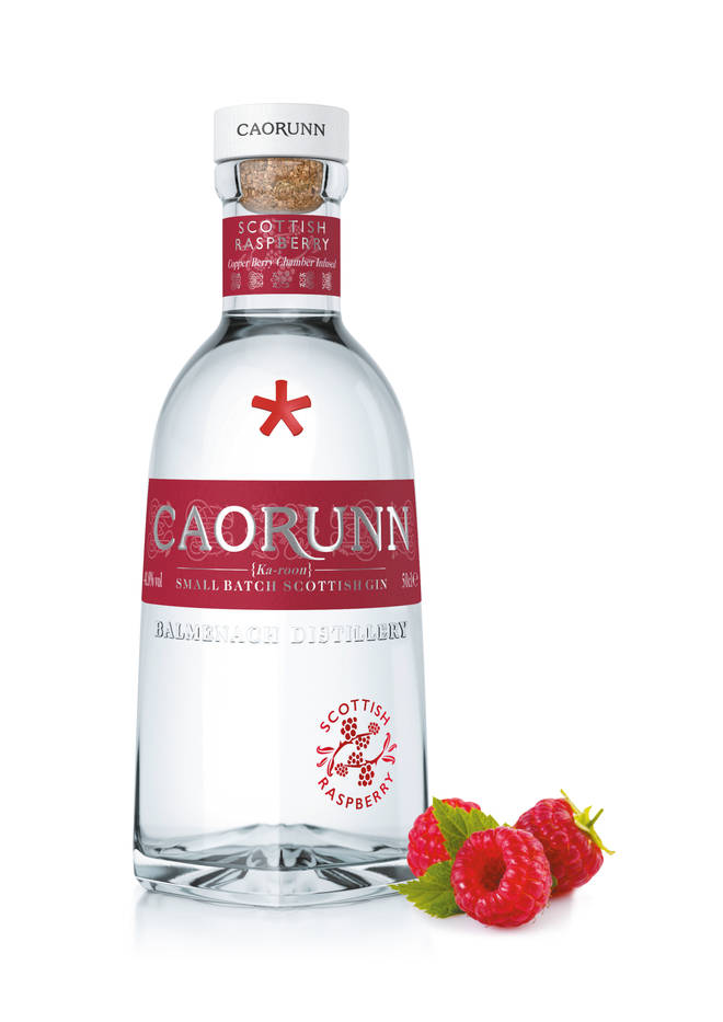 Caorunn raspberry gin is infused with the flavours of Scotland