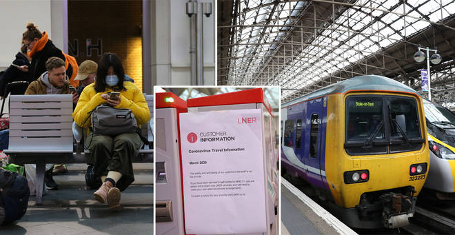 Train services will run a reduced service from Monday 23rd March