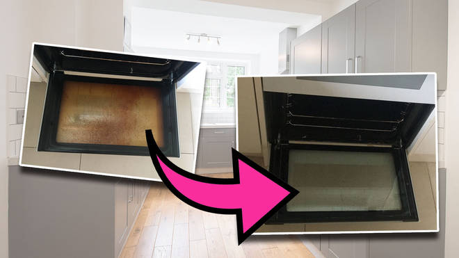 You really CAN clean a filthy oven door with just two products... and a lot of elbow grease
