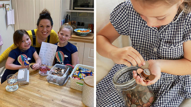 Laura took to Facebook to share her hack this week, which involves her giving her children £1 to spend a day and opening a at-home 'tuck shop'