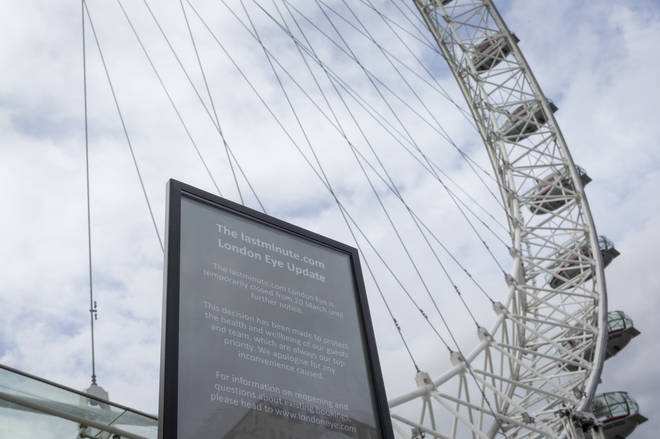 Coronavirus London Eye Closure Notice