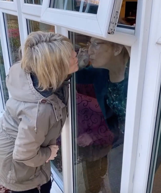 Ruth Langsford shared a special moment with her mum through a window on Mother's Day
