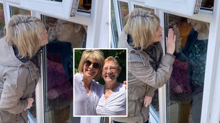 Ruth Langsford visits her mum through a window on Mother's Day in heartwarming video
