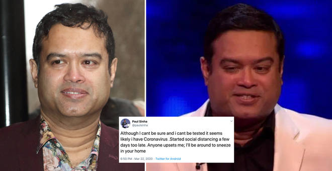 Paul Sinha has opened up about his coronavirus fears