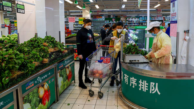Restrictions on supermarkets are being relaxed in Wuhan