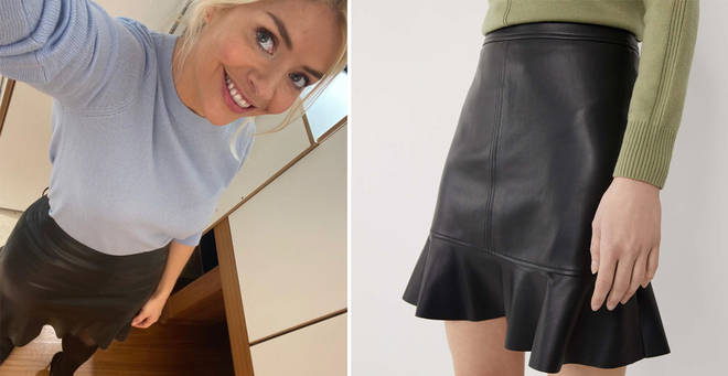 Holly Willoughby's skirt is from Warehouse