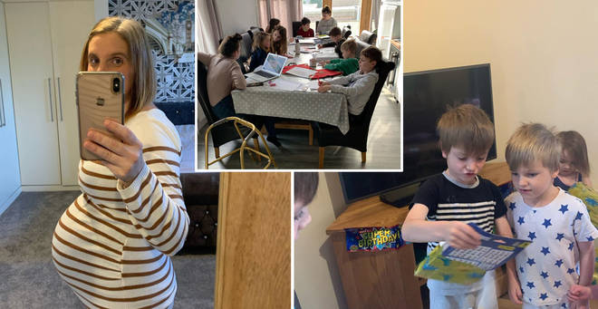 Sue Radford has revealed her homeschooling set up