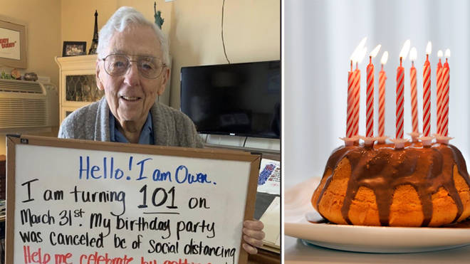 A man has made a wish for his 101st birthday