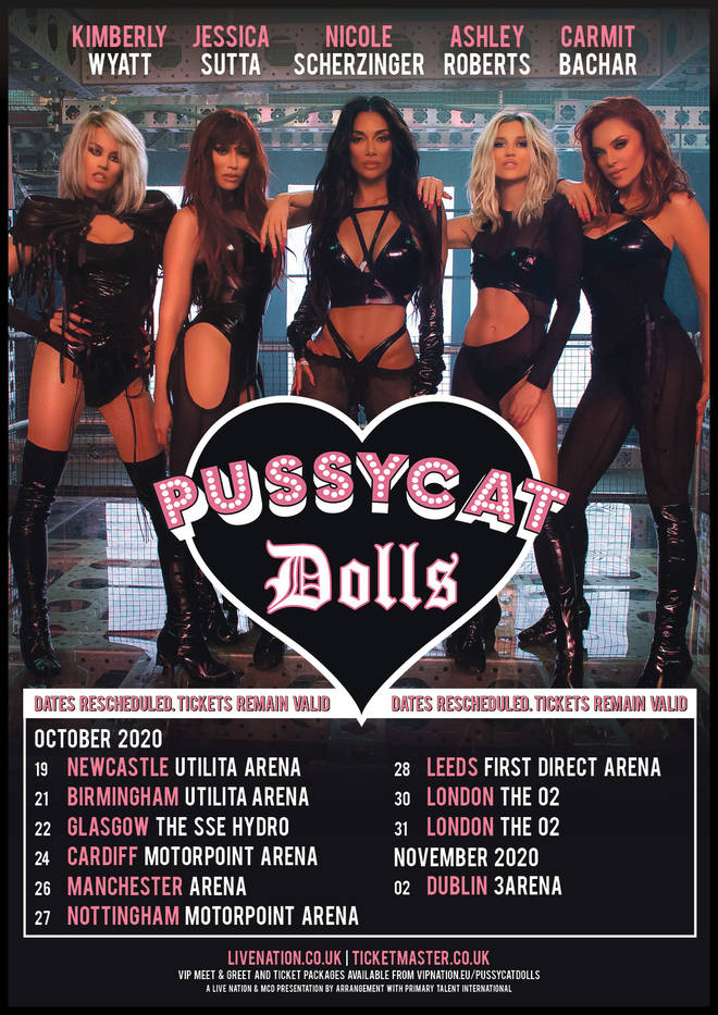 The Pussycat Dolls' rescheduled tour dates in full