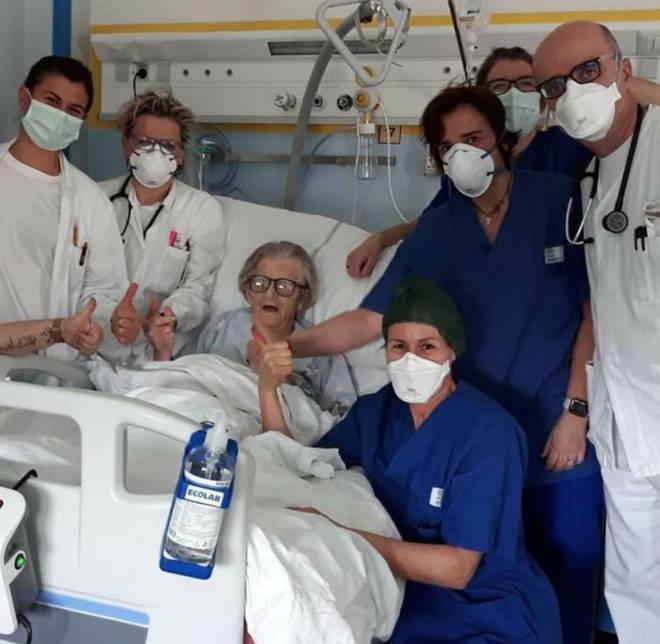 Alma Clara Corsini recovered from coronavirus last week