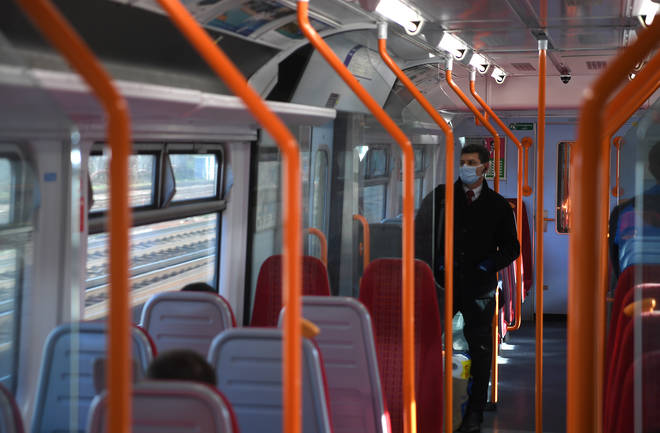 Public transport has been increasingly empty as people stay at home amid coronavirus
