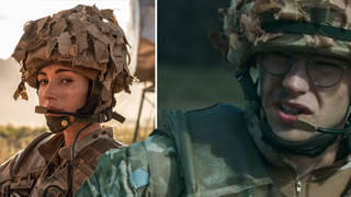 Michelle Keegan and Nico Mirallegro on Our Girl