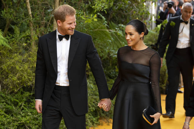 Meghan Markle and Prince Harry at the Lion King premiere