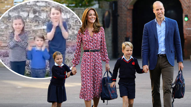 The Cambridges took part in the special moment to thank the NHS