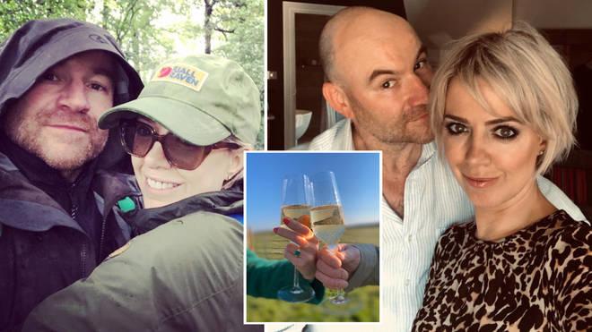Joe Duttine and Sally Carman announced their engagement on Twitter.