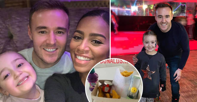 Alan Halsall revealed the sweet 'McDonalds' he made for his daughter