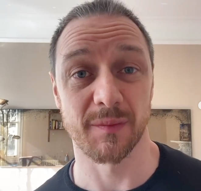 James McAvoy urged his Instagram followers to donate to Masks For Heroes