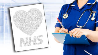 Beat boredom and show support for the NHS with this colouring frame