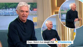 Phillip Schofield had a coughing fit on This Morning