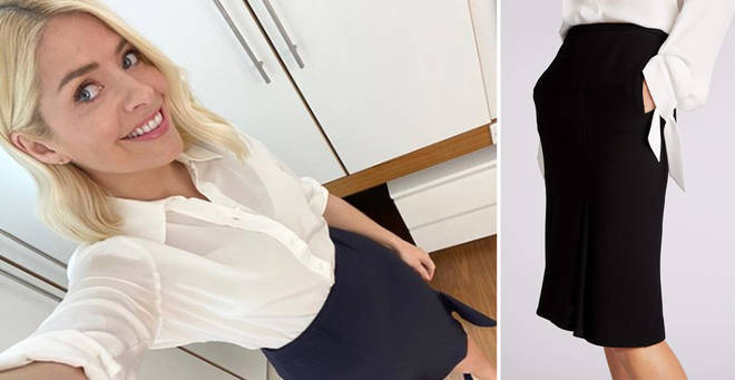 Holly Willoughby's skirt is from Roland Mouret