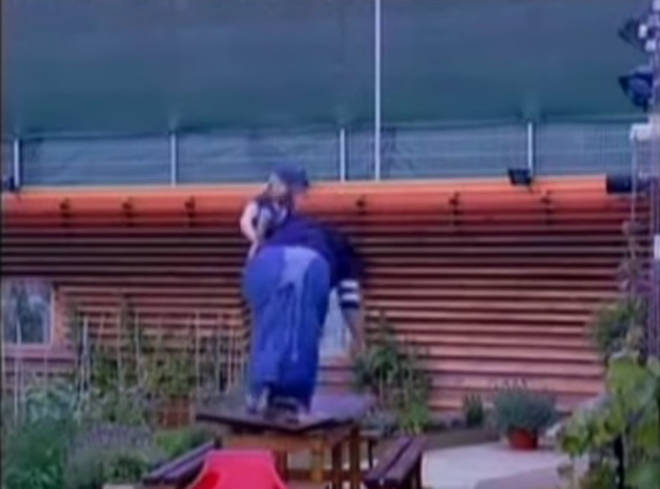 Alison Hammond fell through a table on Big Brother