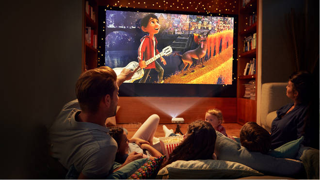 Family movie nights become cinematic adventures with a projector