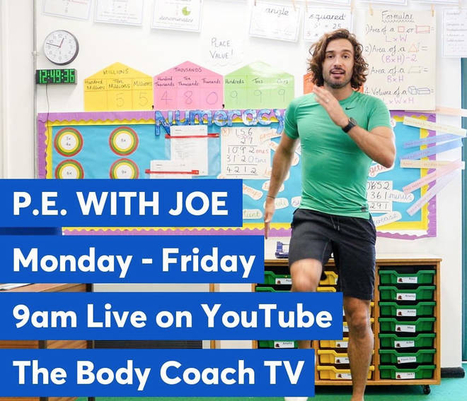 Joe Wicks hosts his live workouts every weekday morning at 9AM