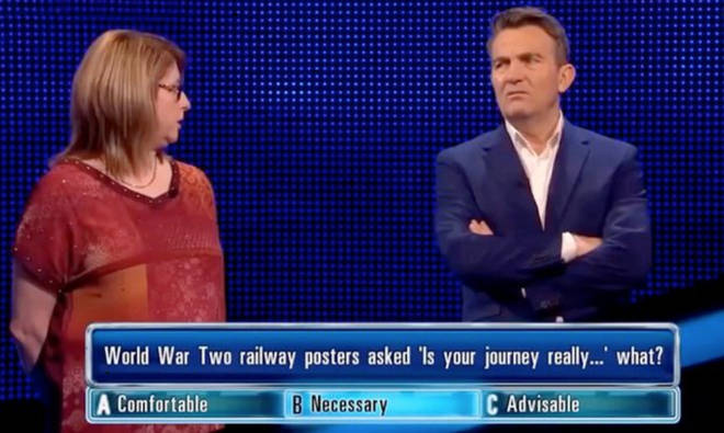 The correct answer appeared to echo the current situation in the UK