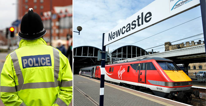 A woman has been fined for 'loitering between platforms' at Newcastle Central Station