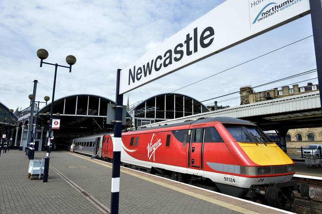 The incident took place at Newcastle Central Station