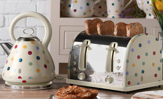 New kettle and toaster set from Russell Hobbs and Emma Bridgewater