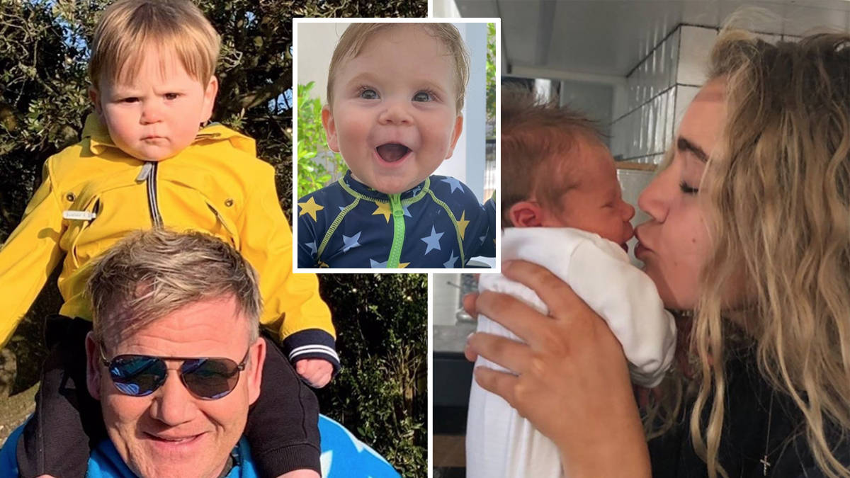Gordon Ramsey and family share new pictures of baby Oscar for his first birthday